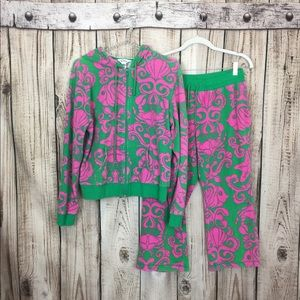 Lilly Pulitzer Pink Green Floral Jumpsuit